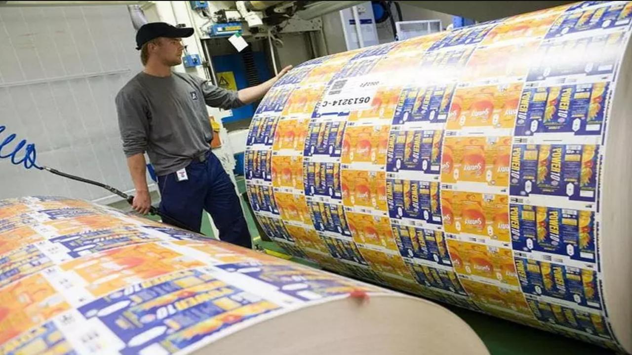 Man near a print roller